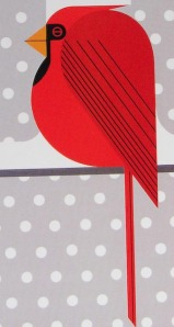 Charley Harper Cardinal Card